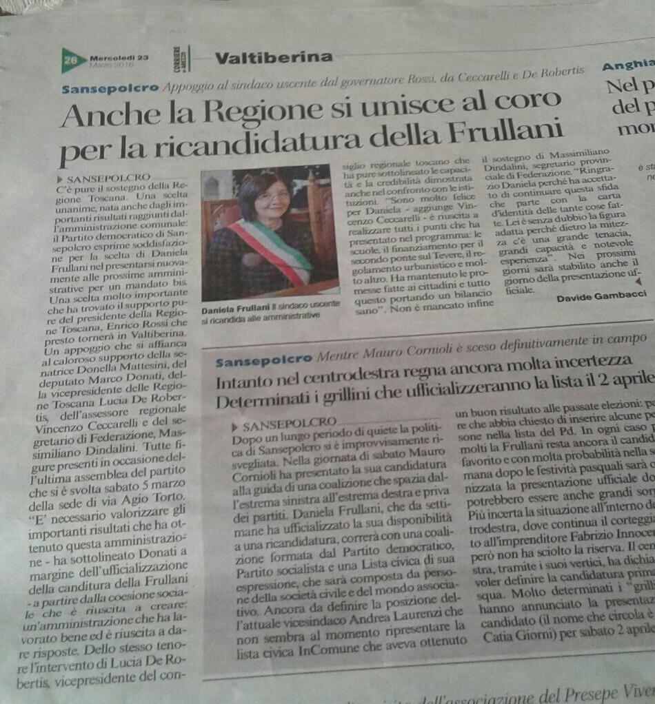 2016 03 23 Corriere Arezzo
